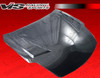 2007-2008 Nissan 350Z 2Dr Terminator Gt Heat Extractor Carbon Fiber Hood. VIS Carbon Fiber Hoods and Trunks are made from 100% ISO-certified, Grade-A carbon fiber material.  All VIS Carbon Fiber Hoods and Trunks are manufactured using a two-part construction design.  The top layer is composed of carbon fiber material bonded to the hood surface with high-grade epoxy resin, andfinished with an ultra-clear (Poly Shield), UV-protective polyurethane coating for a high gloss finish.  A one-piece, smooth underside shell is fused to the top layer enhancing the product's structural integrity.  The edges are smoothed by hands to insure good quality finish all around. In 2014, we further improved on this manufacturing process by introducing the Vacuum Infusion Process (V.I.P.), which utilizes a single-mold vacuum to produce parts that are 10-20% lighter than before while improving durability. We are transitioning our full spectrum of carbon parts to use the VIP process so that our customers can enjoy these improved products without incurring a huge cost increase. All VIS Carbon Fiber Hoods and Trunks come with a VIS badge of authenticity. Please be sure to look for the badge when purchasing. Due to the unknown nature of the intended uses of these products, hood pins are required. These products are intended for off-road use only, unless your local and state laws state otherwise.