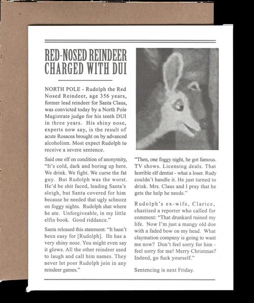 Rudolph got a DUI