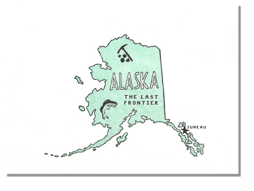 Alaska State Print: The Last Frontier
