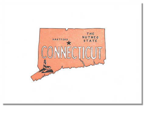 Connecticut State Print: The Nutmeg State