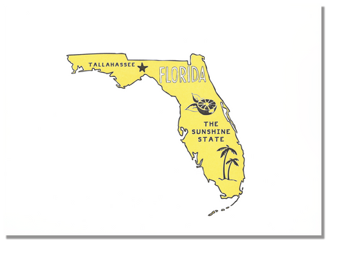Florida State Print: The Sunshine State
