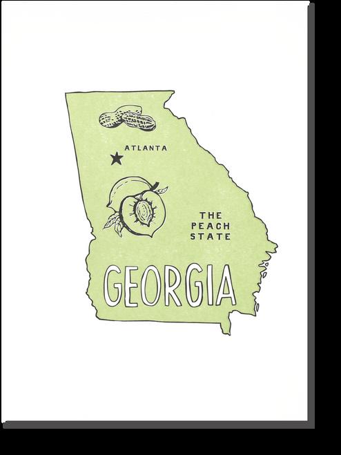 Georgia State Print: The Peach State