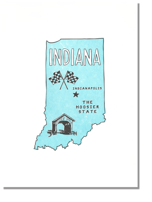 Indiana state Print: The Hoosier State