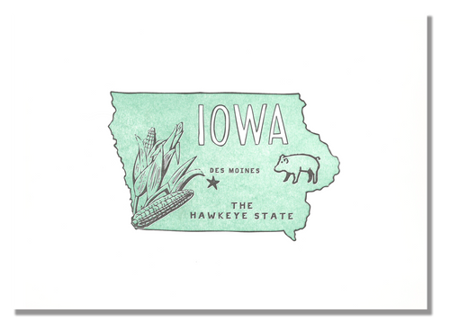 Iowa State Print: The Hawkeye State
