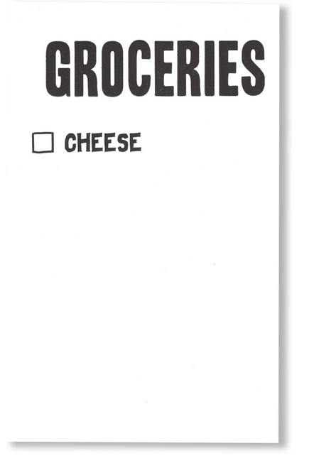 Cheese Grocery Scratch  Pad