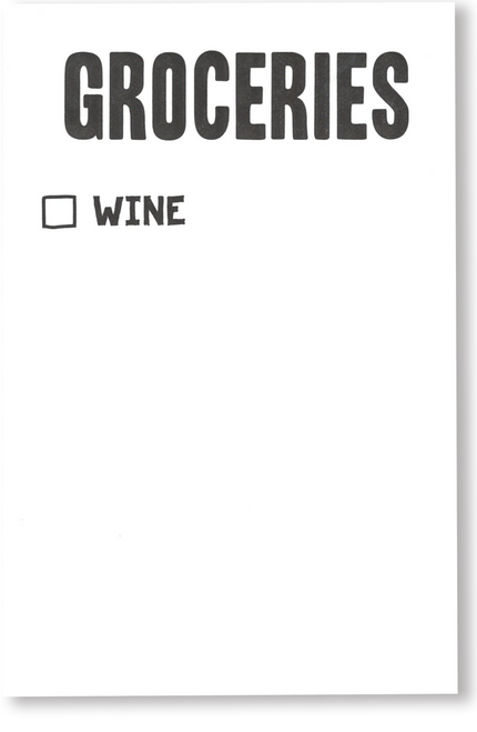 Wine Grocery Scratch Pad
