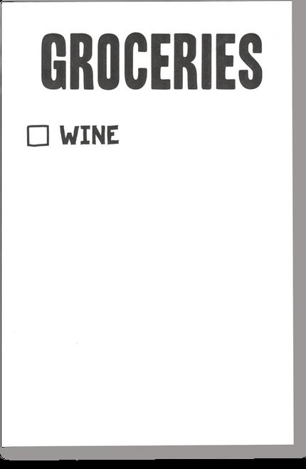 Wine Grocery Scratch Pad