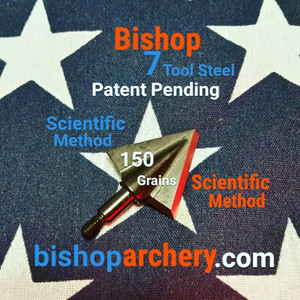 ONE TEST HEAD - 150 GRAIN PROPRIETARY BISHOP S7 TOOL STEEL SCIENTIFIC METHOD