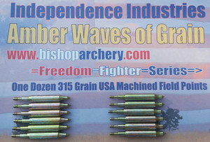 ONE DOZEN 315 GRAIN MACHINED FIELD POINTS