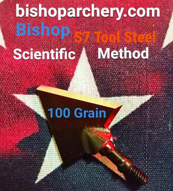 ONE TEST HEAD - 100 GRAIN PROPRIETARY BISHOP S7 TOOL STEEL SCIENTIFIC METHOD
