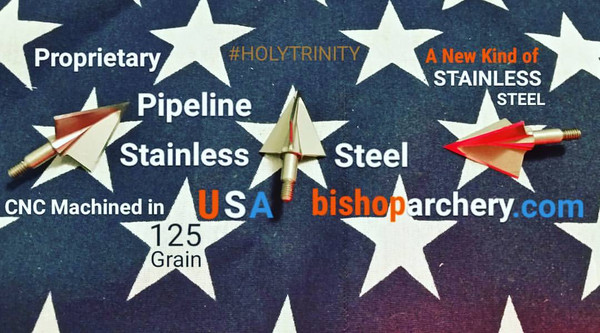 BACK IN STOCK... 125 GRAIN NON-VENTED PROPRIETARY PIPELINE SR STAINLESS STEEL #HOLYTRINITY