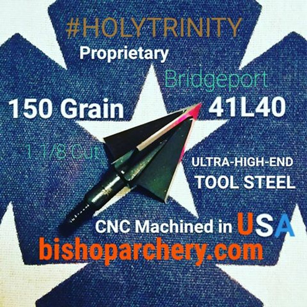 ONE TEST HEAD - 150 GRAIN NON-VENTED PROPRIETARY BRIDGEPORT 41L40 TOOL STEEL #HOLYTRINITY