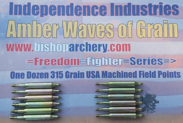 ONE DOZEN 315 GRAIN MACHINED FIELD POINTS