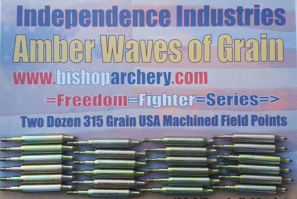 TWO DOZEN 315 GRAIN MACHINED FIELD POINTS