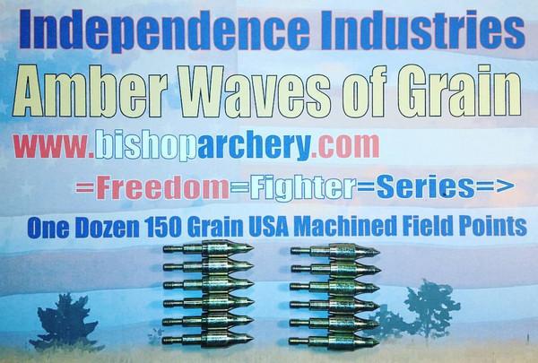 ONE DOZEN 150 GRAIN MACHINED FIELD POINTS