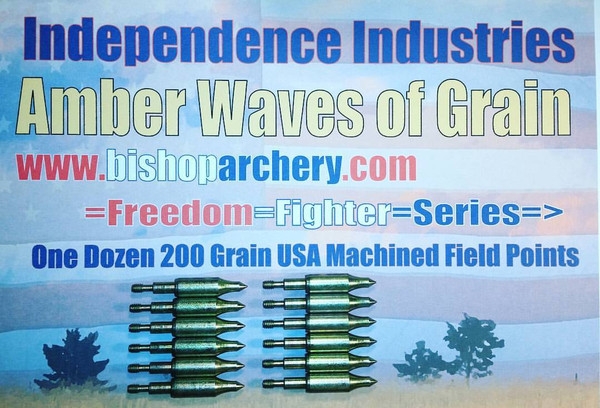ONE DOZEN 200 GRAIN MACHINED FIELD POINTS