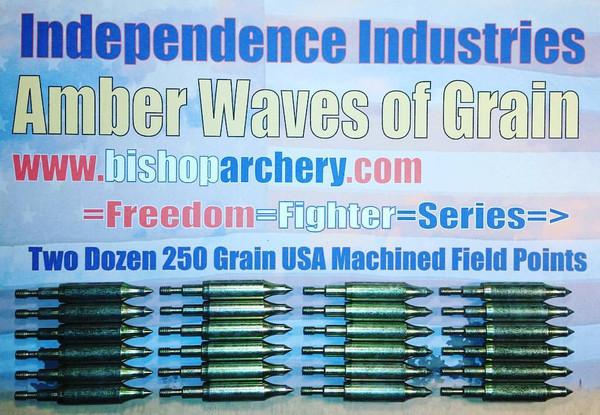 TWO DOZEN 250 GRAIN MACHINED FIELD POINTS