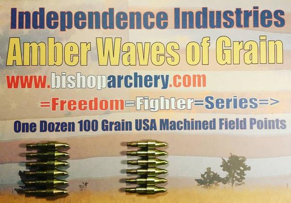 ONE DOZEN 100 GRAIN MACHINED FIELD POINTS