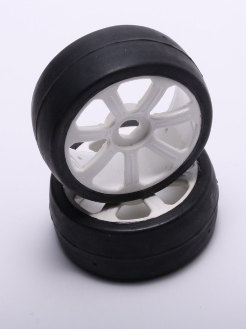 FP1800SSW FP Pre-Mounted 1/8 GT Tires Soft (35) White 2pcs