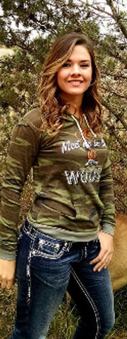 Meet Me in the Woods Camo Hoodie - Women's