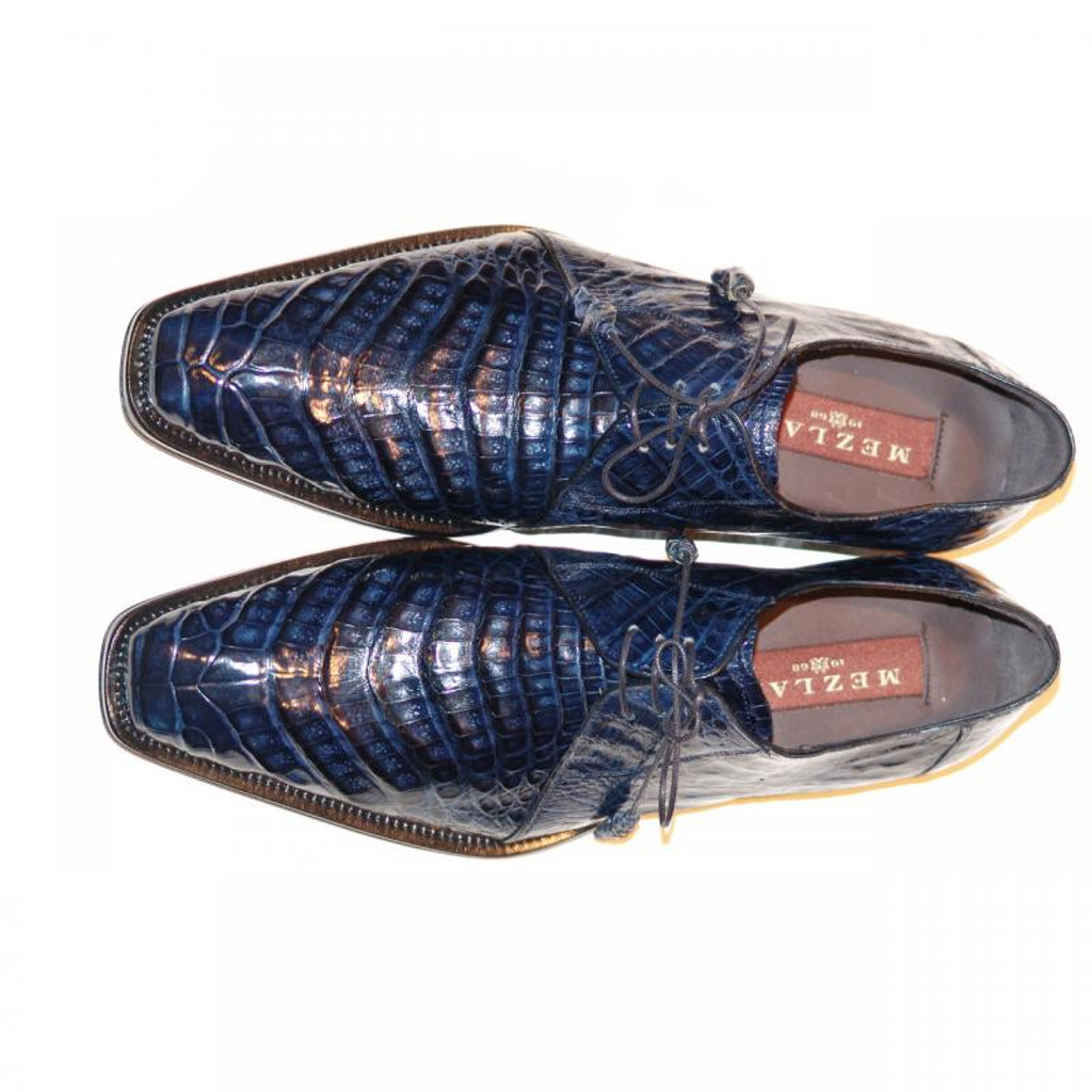 Mezlan, Sempre, Navy Crocodile Lace Up