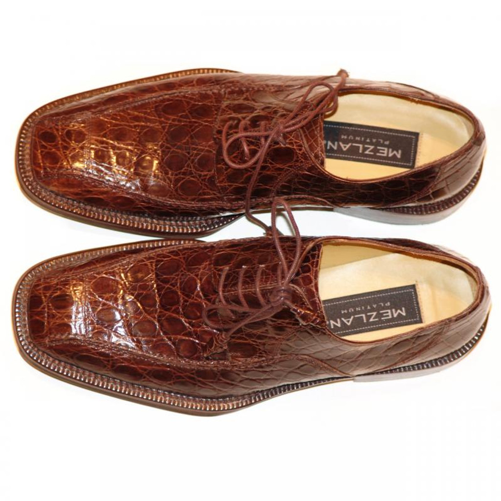 Mezlan 4914 Crocodile Lace Up Brown