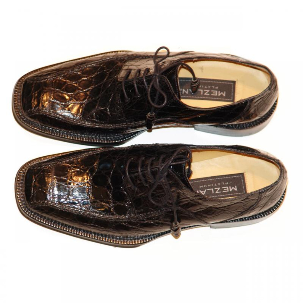 Mezlan 4914 Crocodile Lace Up Black