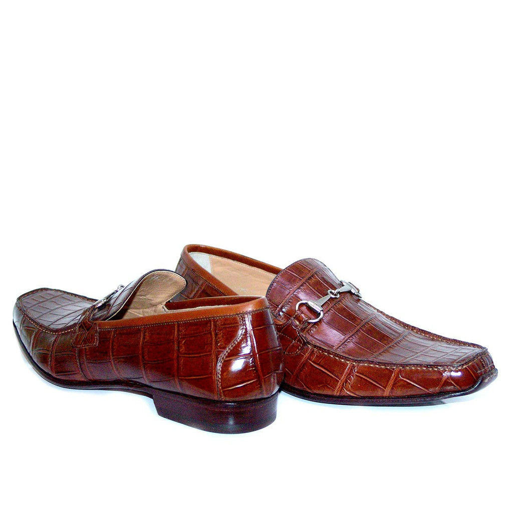 Romano Martegani 4875 Alligator Bit Loafer Brown