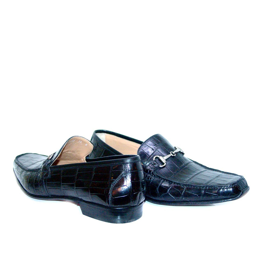 Romano Martegani Alligator Bit Loafer 4875 Black