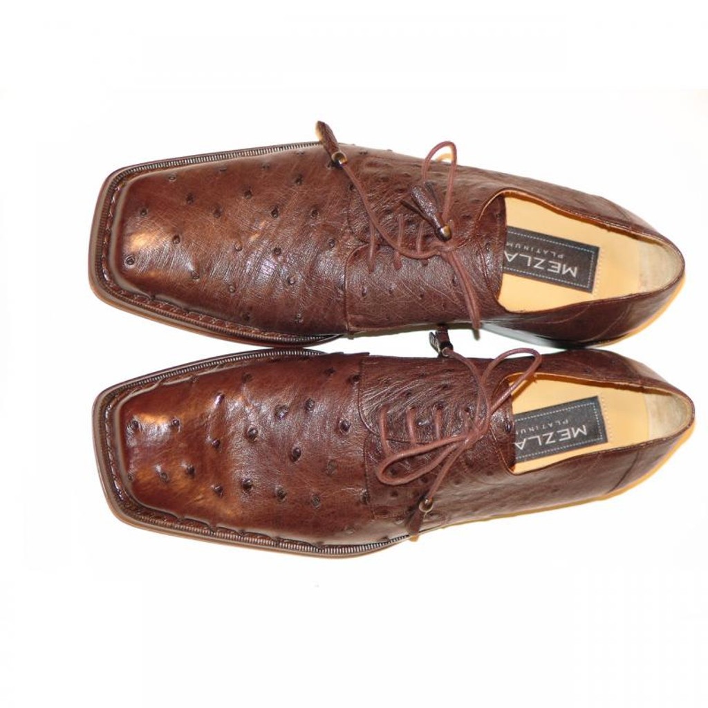 Mezlan 609 Ostrich Lace Up Brown