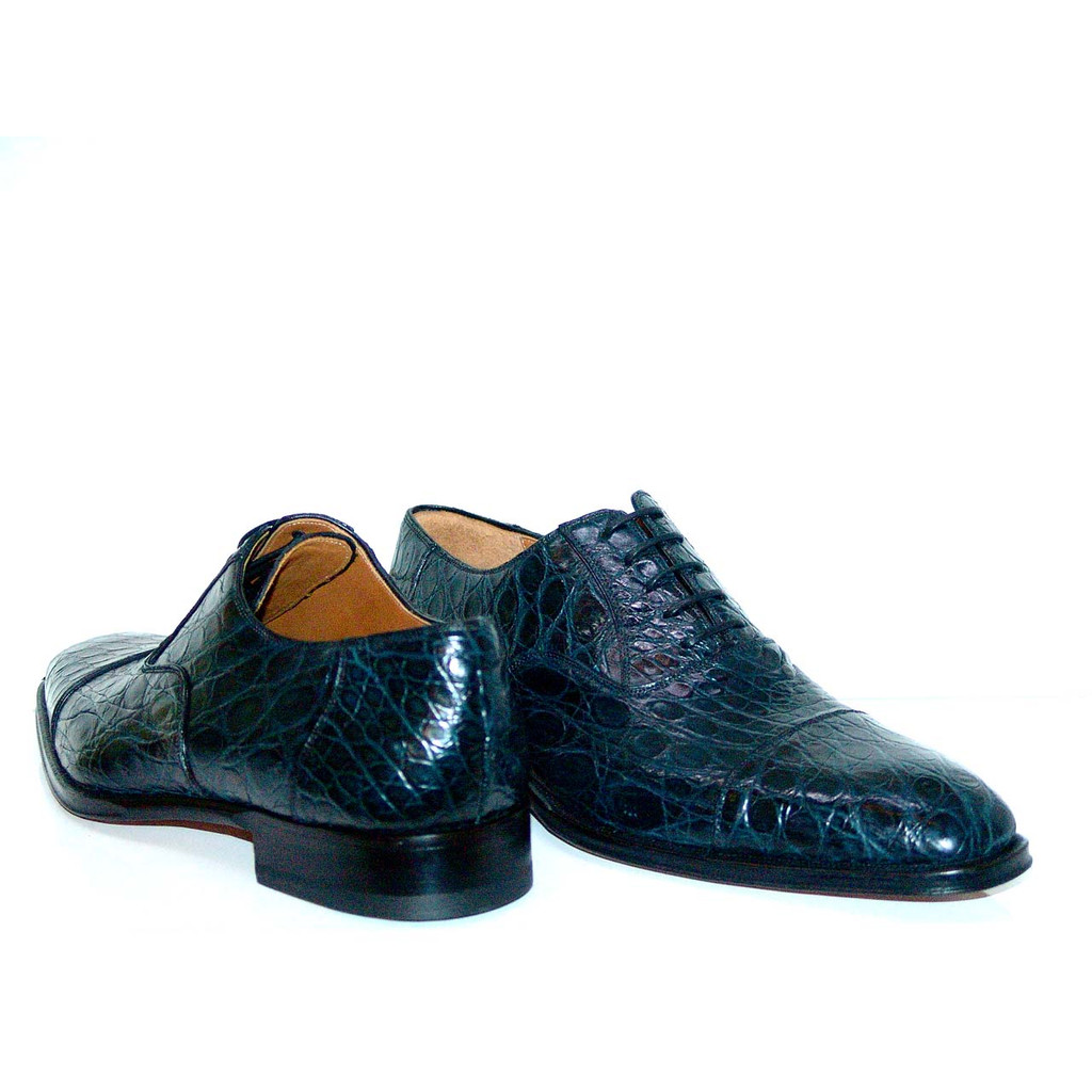 Magnanni 10522 Crocodile Cap Toe Navy