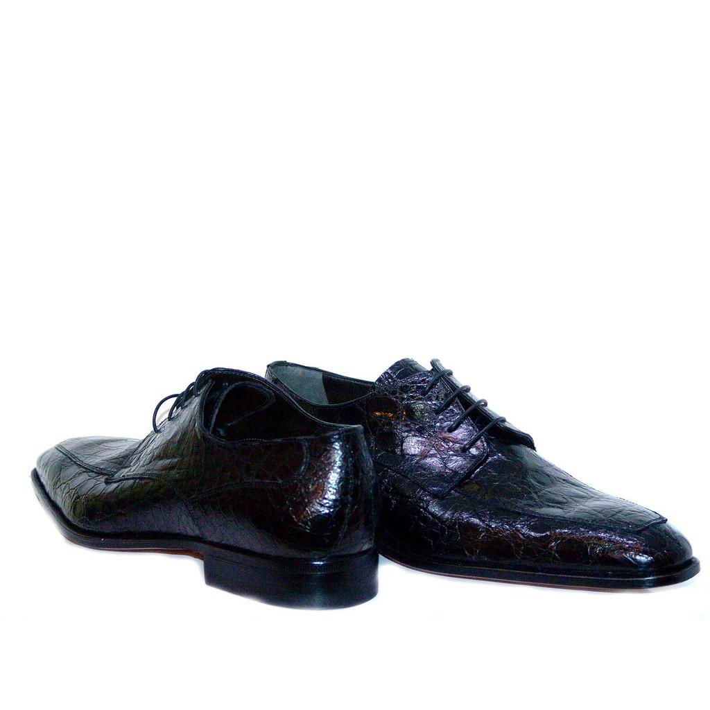 Moreschi 36661 Full Alligator Split Toe Black