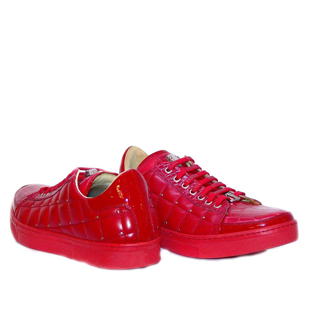 Fennix 3077 Alligator & Calfskin Sneaker Red
