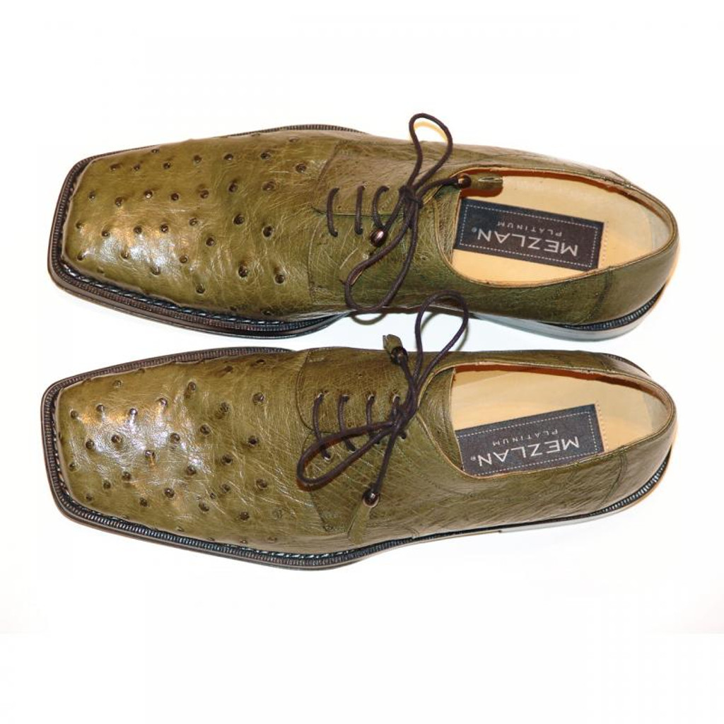 Mezlan 609 Ostrich Lace Up Olive