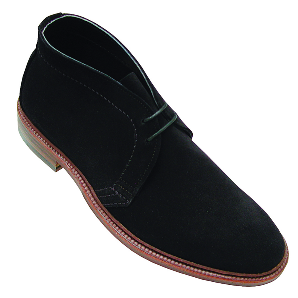 Alden 1497 Unlined Chukka Boot Black Suede