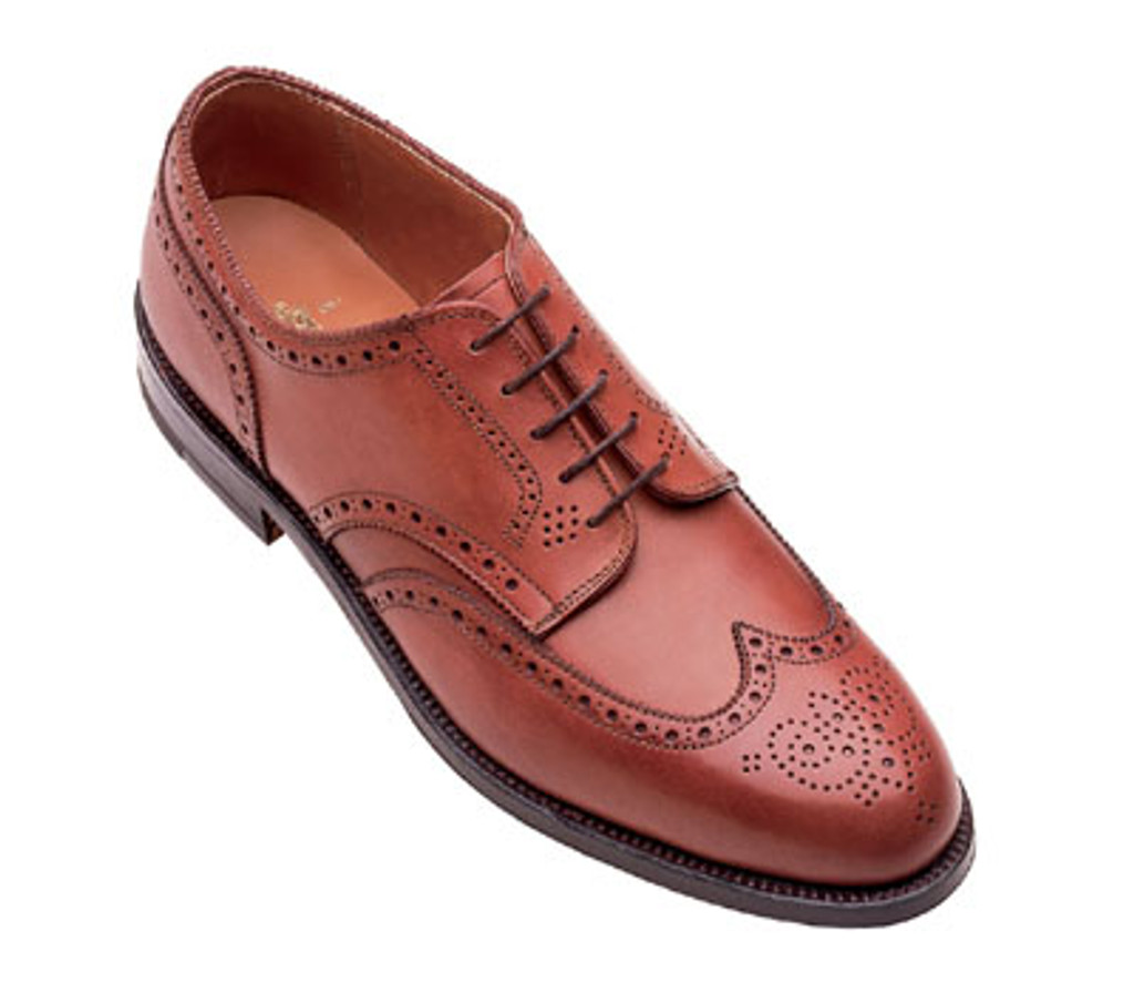 Alden 966 Wing Tip Blucher Burnished Tan