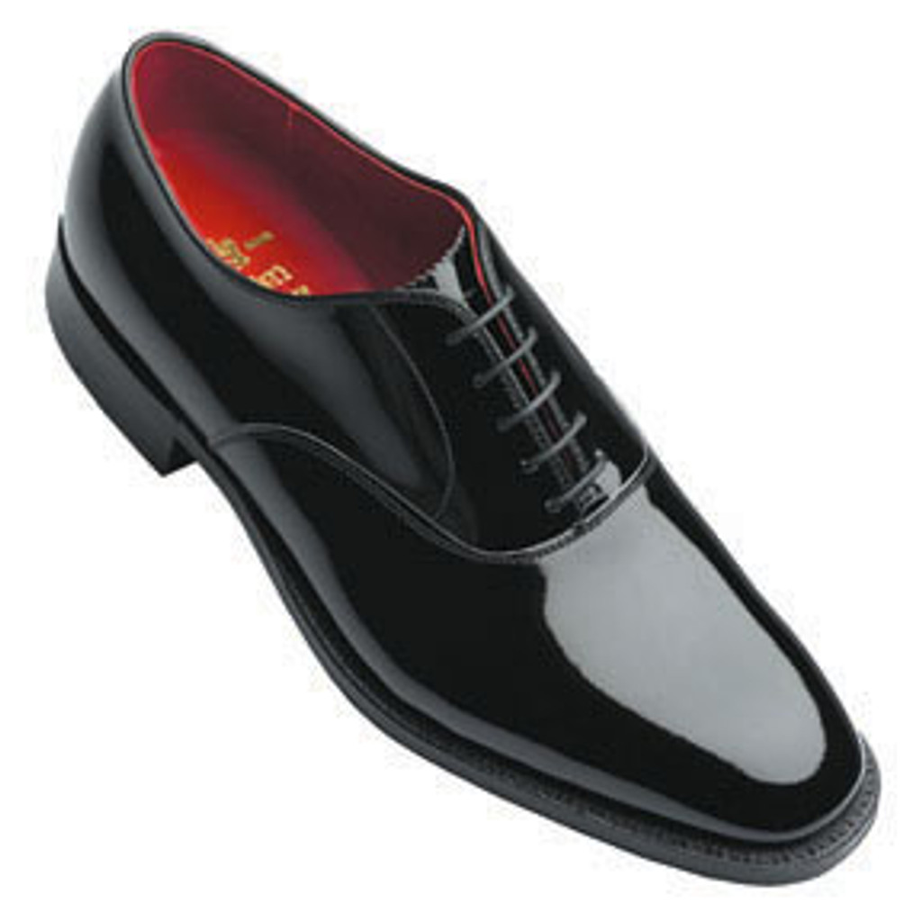 Alden 9373 Plain Toe Bal Formal Patent Leather Black