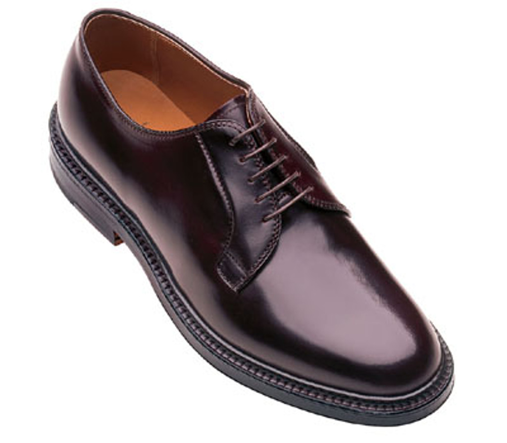 Alden 990 Shell Cordovan Plain Toe Blucher Oxford In Dark Burgundy