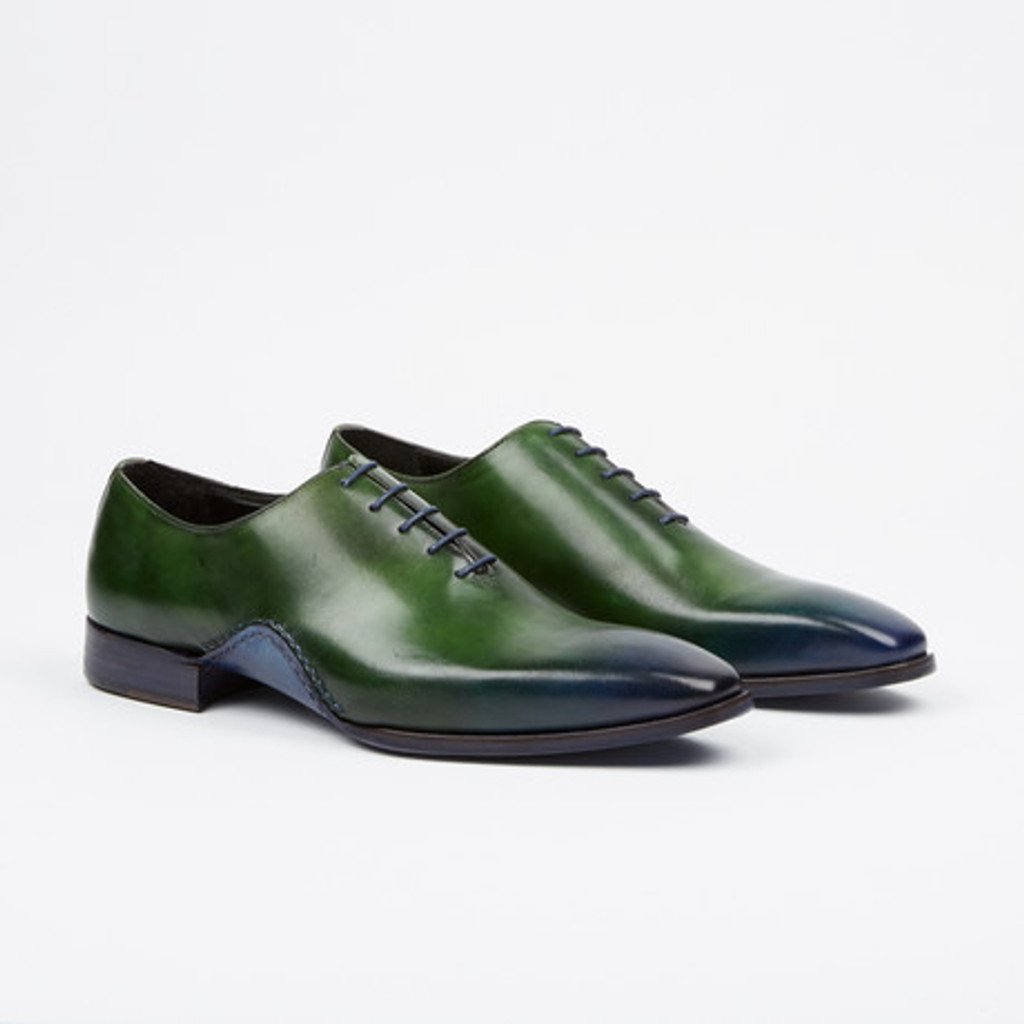 Fertini 8055 Plain toe lace up- Green/Navy