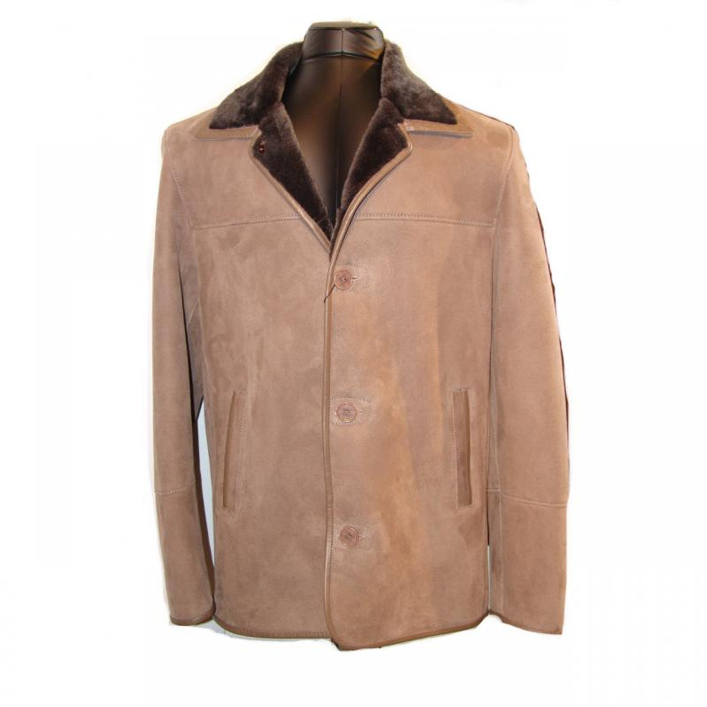 Pelleline Shearling Coat Taupe