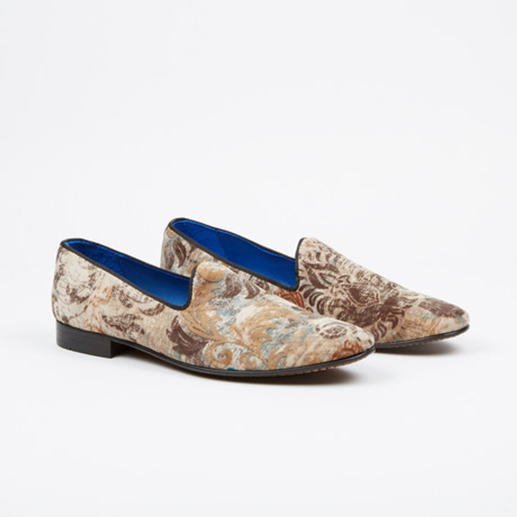 Fertini 80200 Plain Loafer Beige velvet design