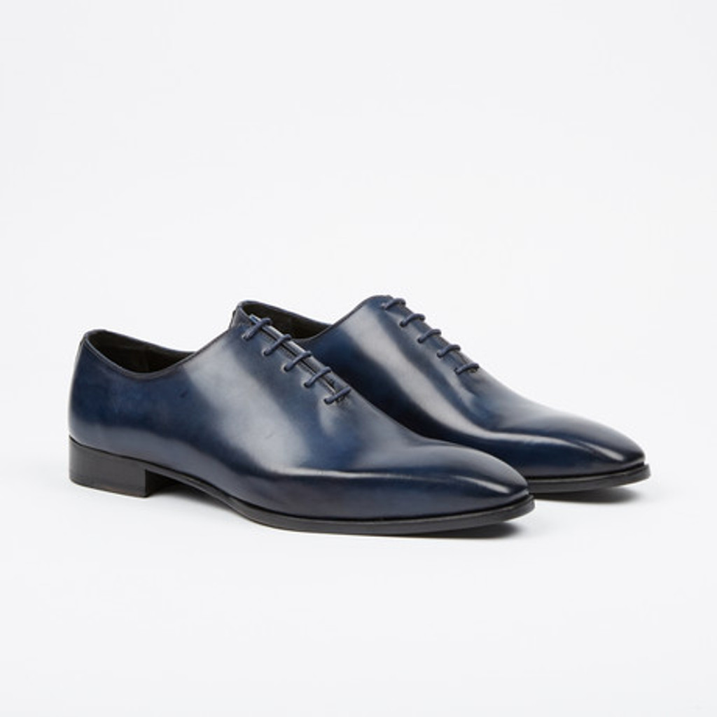 Fertini 8055-1 Plain toe lace up- Navy