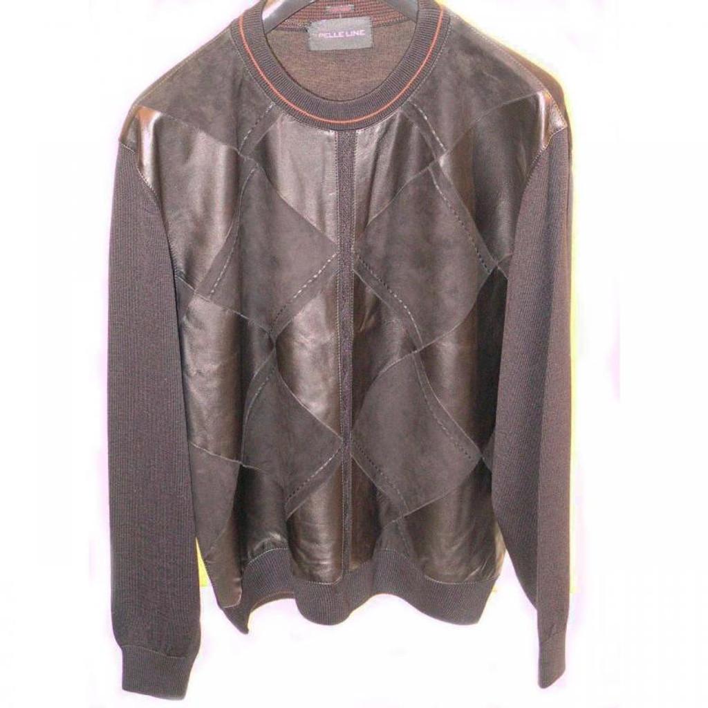 Pelleline 45710 Sweater Leather & Suede Black, Bone, Taupe