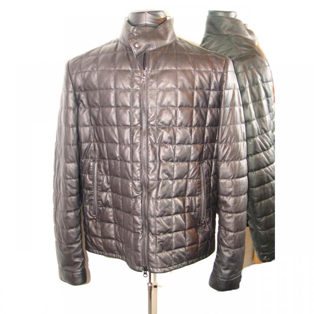 Pelleline Goose Down Leather Jacket Black