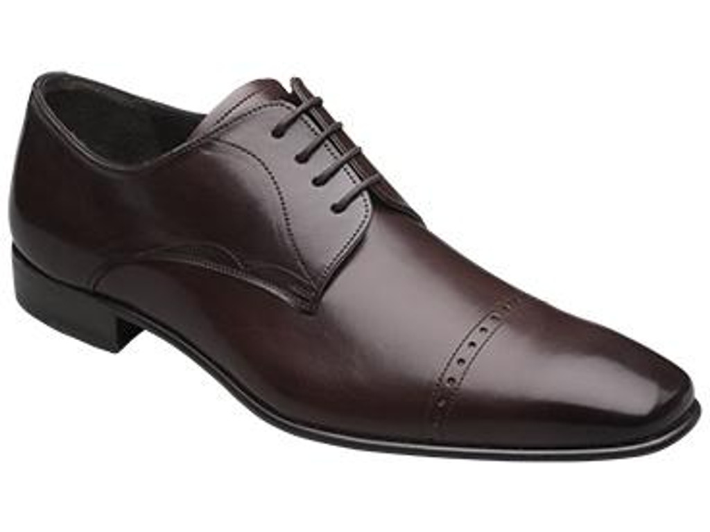 Mezlan Milton Cap Toe Design Lace Up Brown