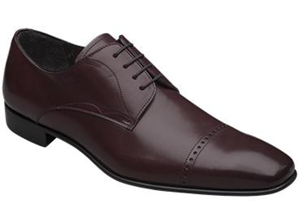 Mezlan Milton Cap Toe Design Lace Up Burgundy