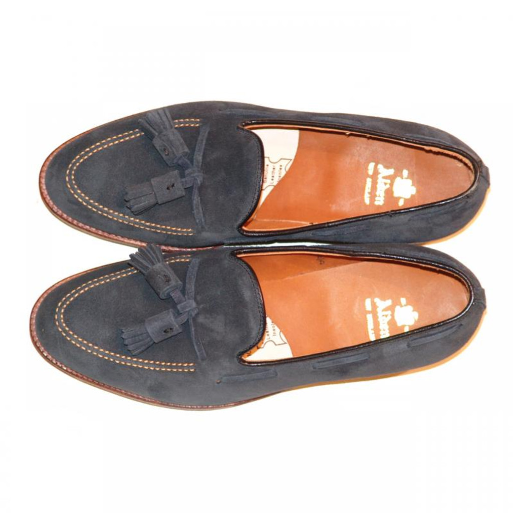 Pelle Line Exclusive Alden Tassel Moccasin Loafer 86205 Navy Suede