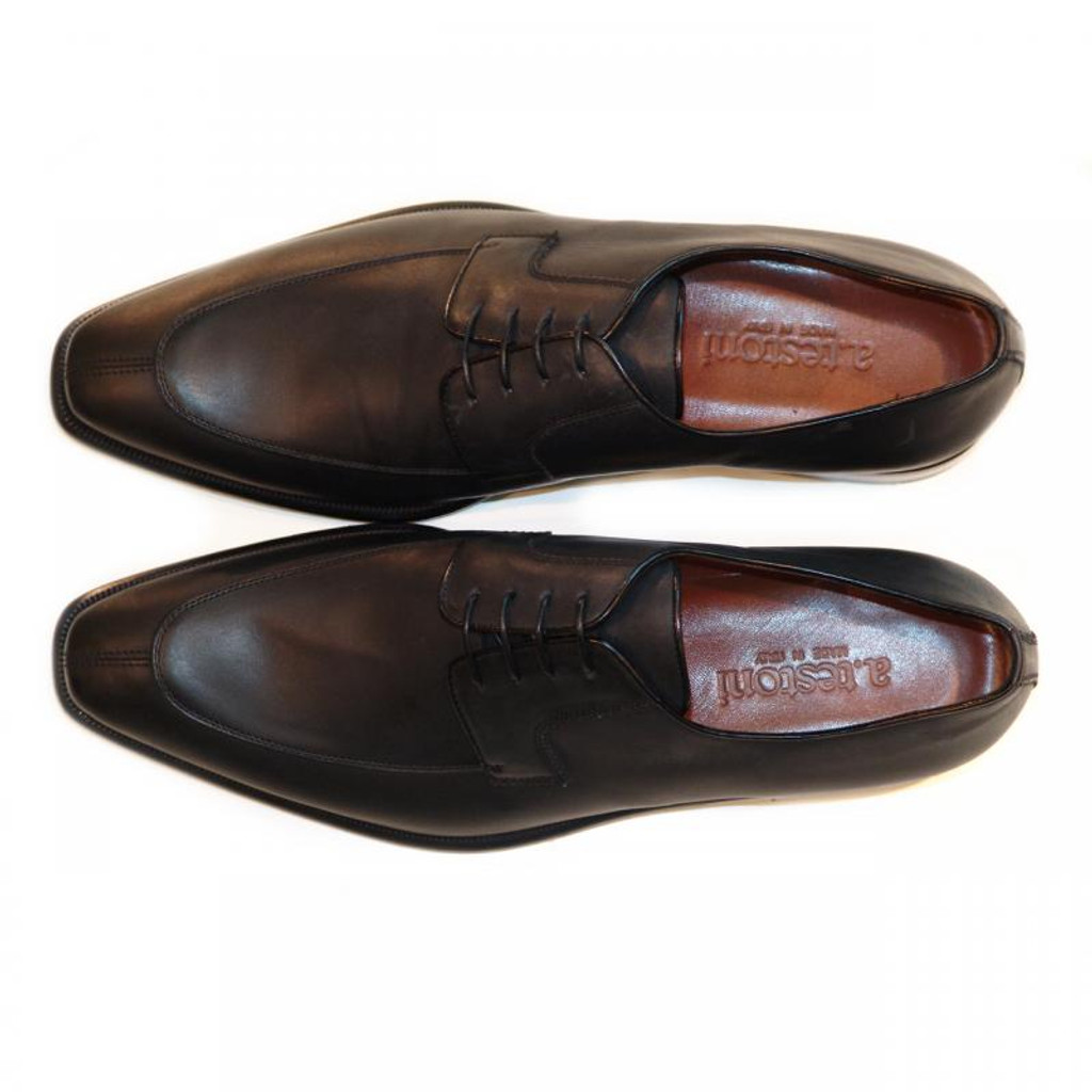 A.Testoni 45533 Black Matte Leather Split Toe