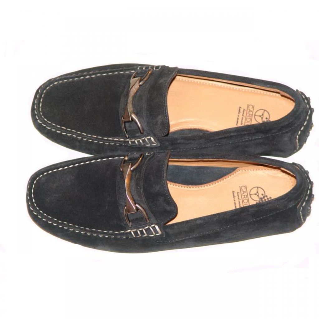 Pelle Line Exclusive 50564 Comfort Driving Moccasin Black Suede