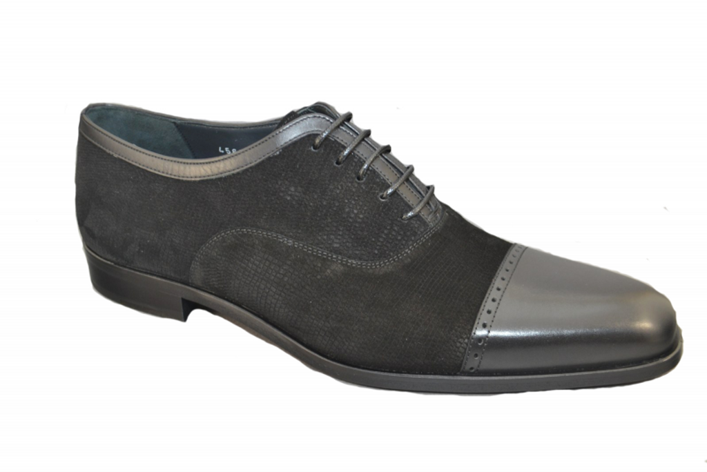 Corrente 4560 Cap toe  Lace up- Black